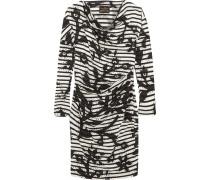 Drapiertes Kleid Aus Baumwoll-jersey Mit Print -