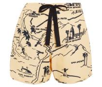 Shorts Aus Canvas Mit Print -