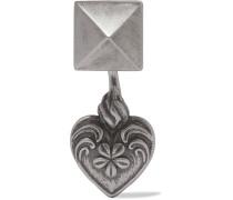 Brünierter Silberfarbener Ohrring