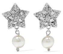 Verte Ohrringe Mit Kristallen Und Kunstperlen