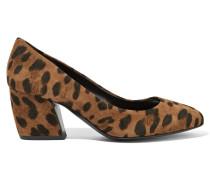 Calamity Pumps Aus Veloursleder Mit Leopardenprint - Leoparden-Print