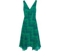 Dita Bedrucktes Kleid Aus Seiden-georgette - Tannengrün