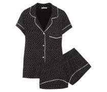 Sleep Chic Pyjama Aus Bedrucktem Jersey - Schwarz