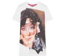 Cher Bedrucktes T-shirt Aus Baumwoll-jersey - Weiß