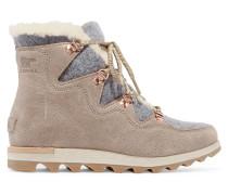 Sneakchic Alpine Ankle Boots Aus Filz Und Veloursleder Mit Shearling-futter -