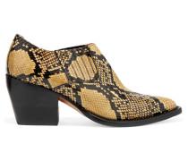 Rylee Ankle Boots Aus Leder Mit Schlangeneffekt -
