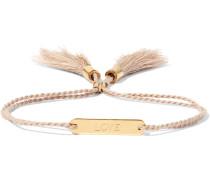 Messages Armband aus Baumwolle mit goldfarbenen Details