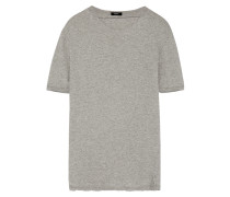 T-shirt Aus Biobaumwoll-jersey Mit Cut-out -