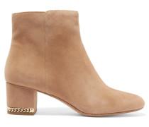 Sabrina Ankle Boots Mit Kettendetail - Braun