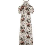 Annaliese Schulterfreie Robe Aus Crêpe De Chine Aus Seide Mit Floralem Print -