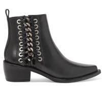 Ankle Boots Aus Leder Mit Details Im überwendlichstich -