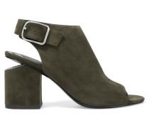 Nadia Slingback-sandalen Aus Veloursleder - Armeegrün