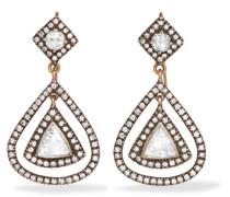 Ohrringe aus 14 Karat Gold und Sterling mit Diamanten