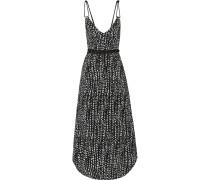 Dots Thai Bedrucktes Kleid Aus Voile - Schwarz