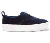 Mother Sneakers Aus Samt - Navy