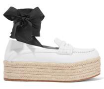 Loafers Aus Leder Mit Plateau Und Schnürung -