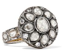 Ring Aus 14 Karat  Und Sterlingsilber Mit Diamanten