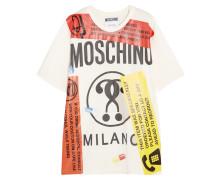 Bedrucktes T-shirt Aus Baumwoll-jersey In Oversized-passform - Weiß