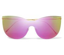Boca Mask Verspiegelte Cat-eye-sonnenbrille Mit Goldfarbenen Details -