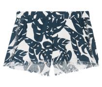 Kona Shorts Aus Bedruckter Baumwolle Mit Fransen - Dunkelgrün