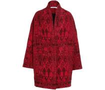 Jacquard-mantel Im Oversized-look -