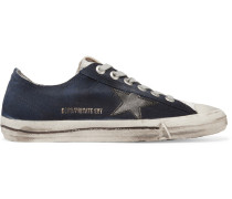 V-Star 2 Sneakers aus Denim mit Lederbesatz