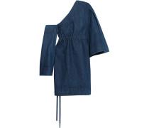 Dionne Minikleid Aus Denim Mit Asymmetrischer Schulterpartie - Mitternachtsblau