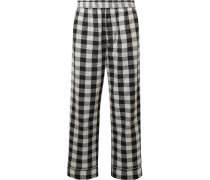 Lilou Pyjamahose Aus Kariertem Baumwollflanell -