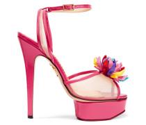 + Barbie® Pomeline Sandalen Aus Lackleder Und Mesh - Pink