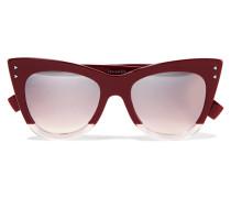 Zweifarbige Sonnenbrille Mit Cat-eye-rahmen Aus Azetat -
