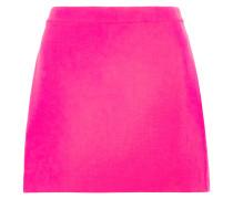 Neonfarbener Minirock Aus Woll-crêpe - Fuchsia