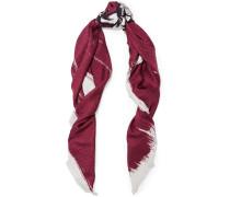 Bedruckter Schal aus Seiden-Jacquard