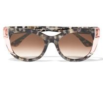 Nevermindy Sonnenbrille Mit Cat-eye-rahmen Aus Azetat - Braun