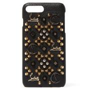 Loubiphone Verzierte Iphone 7 Plus-hülle Aus Strukturiertem Leder -