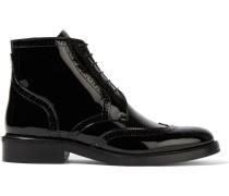 London Ankle Boots aus Lackleder