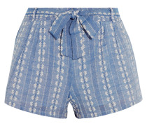Shorts Aus Baumwoll-jacquard -
