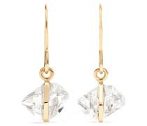 Ohrringe aus 14 Karat  mit Herkimer-diamanten