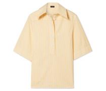 Griffin Hemd aus Gestreifter Baumwollpopeline -