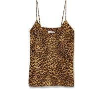 Gwyneth Top Aus Vorgewaschener Seide Mit Leopardenprint -