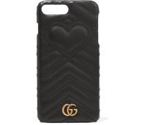 Gg Marmont Iphone 7 Plus-hülle Aus Gestepptem Leder -