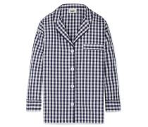 Marina Pyjama-hemd Aus Baumwolle Mit Gingham-karo -