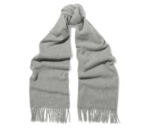 Canada Narrow Schal Aus Wolle Mit Fransen - Grau