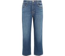 Ivy Verkürzte, Hoch Sitzende Jeans Mit Geradem Bein - Mittelblauer Denim