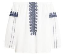 Folktale Schulterfreies Oberteil Aus Baumwollpopeline Mit Verzierung - Weiß