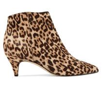 Kinzey Ankle Boots Aus Kalbshaar Mit Leopardenprint -