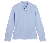 Hemd Aus Baumwolle Mit Schößchen - Himmelblau