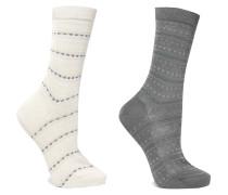 Set Aus Zwei Paar Socken Aus Jacquard-strick -