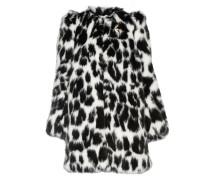 Verzierter Mantel Aus Faux Fur Mit Leopardenprint -