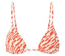 Mouna Bedrucktes Triangel-bikini-oberteil -