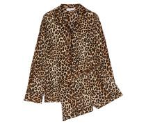 Liliane Pyjama aus vorgewaschener Seide mit Leopardenprint